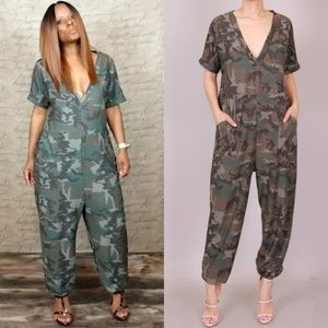 Army Camouflage Jumpsuit